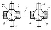 FIVE-MOTION JOINT WITH TWO BARREL-SHAPED HEADS