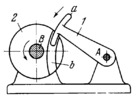 LEVER-TYPE STOP OF A ROTATING DISK