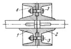FLANGE COUPLING WITH AN ALIGNING RING