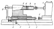 LEVER-TYPE GAUGING DEVICE FOR AN INTERNAL GRINDER